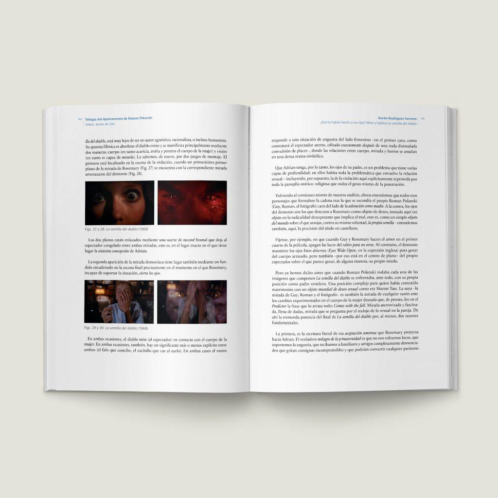 Páginas 104–105 de Trilogía del Apartamento de Roman Polanski - SOLARIS Textos de Cine