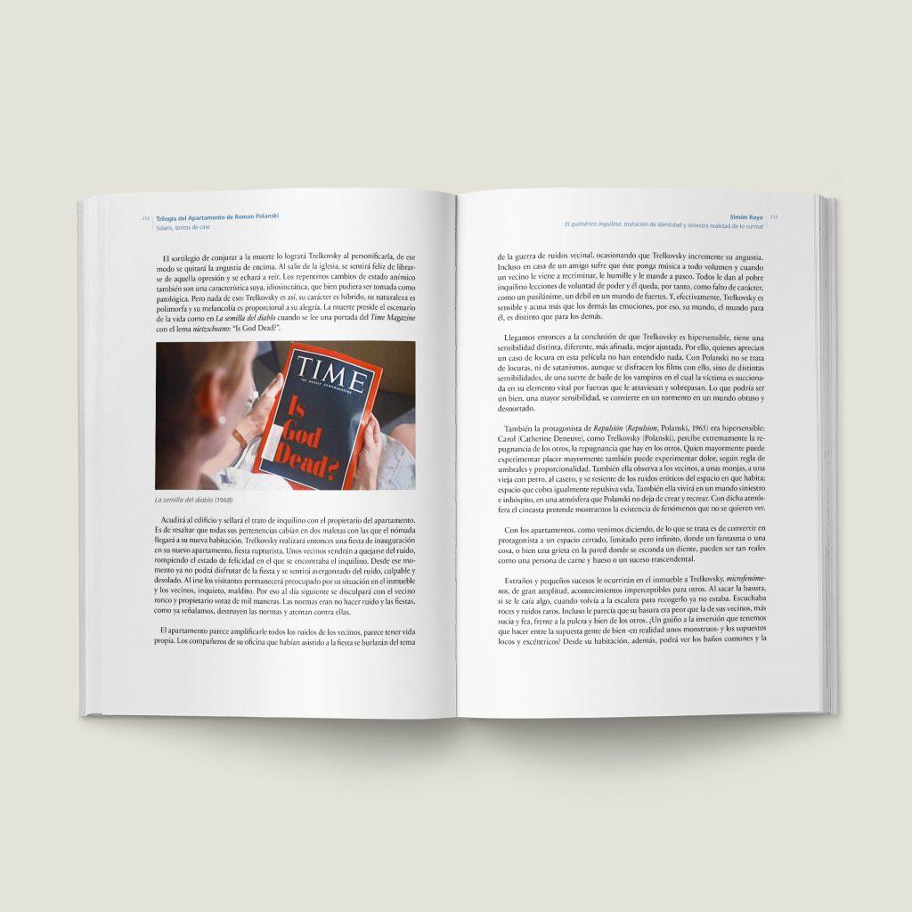 Páginas 212–213 de Trilogía del Apartamento de Roman Polanski - SOLARIS Textos de Cine