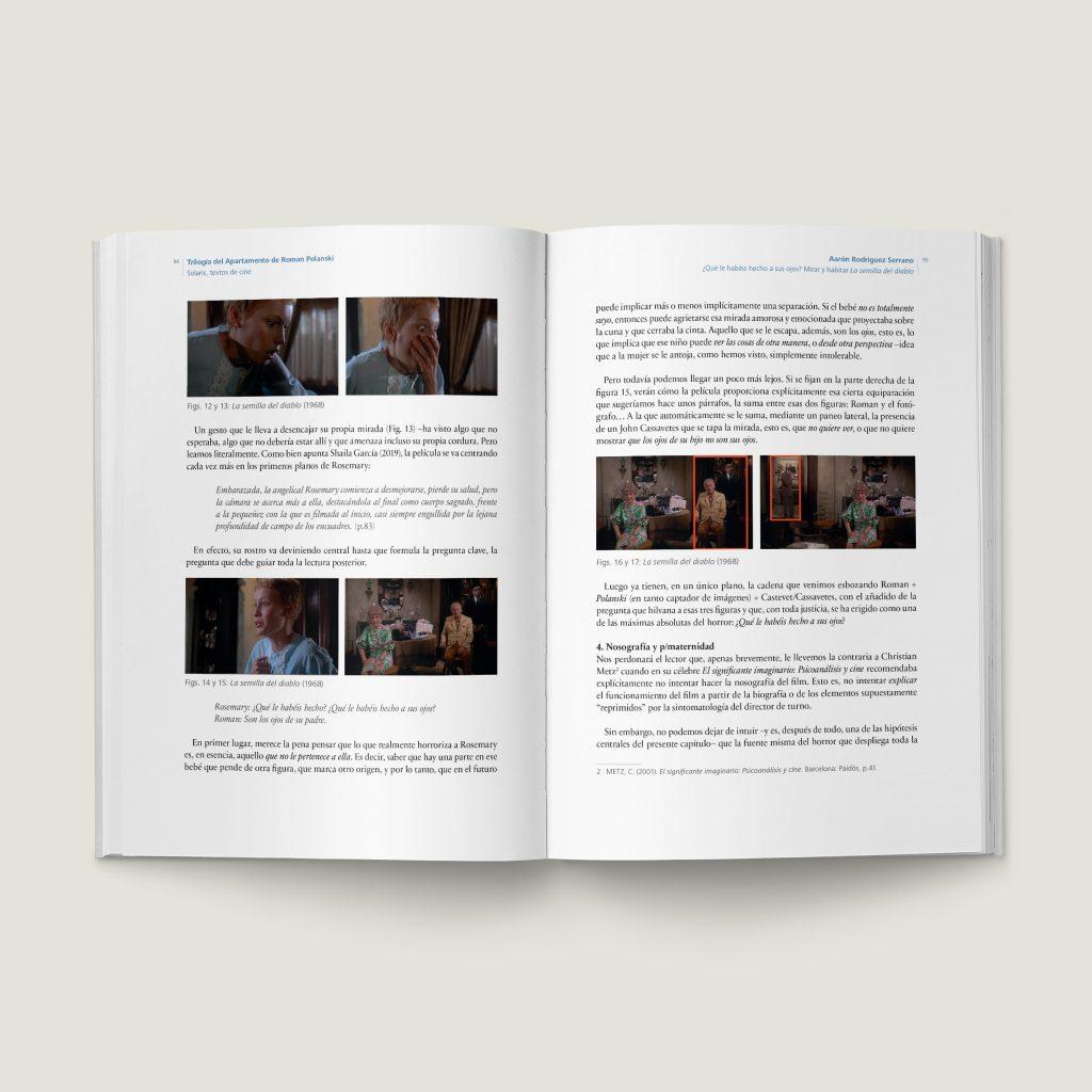 Páginas 94–95 de Trilogía del Apartamento de Roman Polanski - SOLARIS Textos de Cine